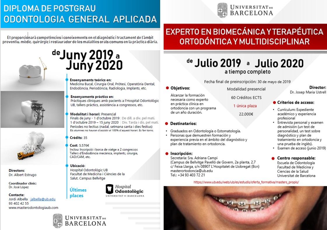 Arrenquen dos nous cursos d'Odontologia amb pràctica clínica a l'Hospital Odontològic Universitat de Barcelona