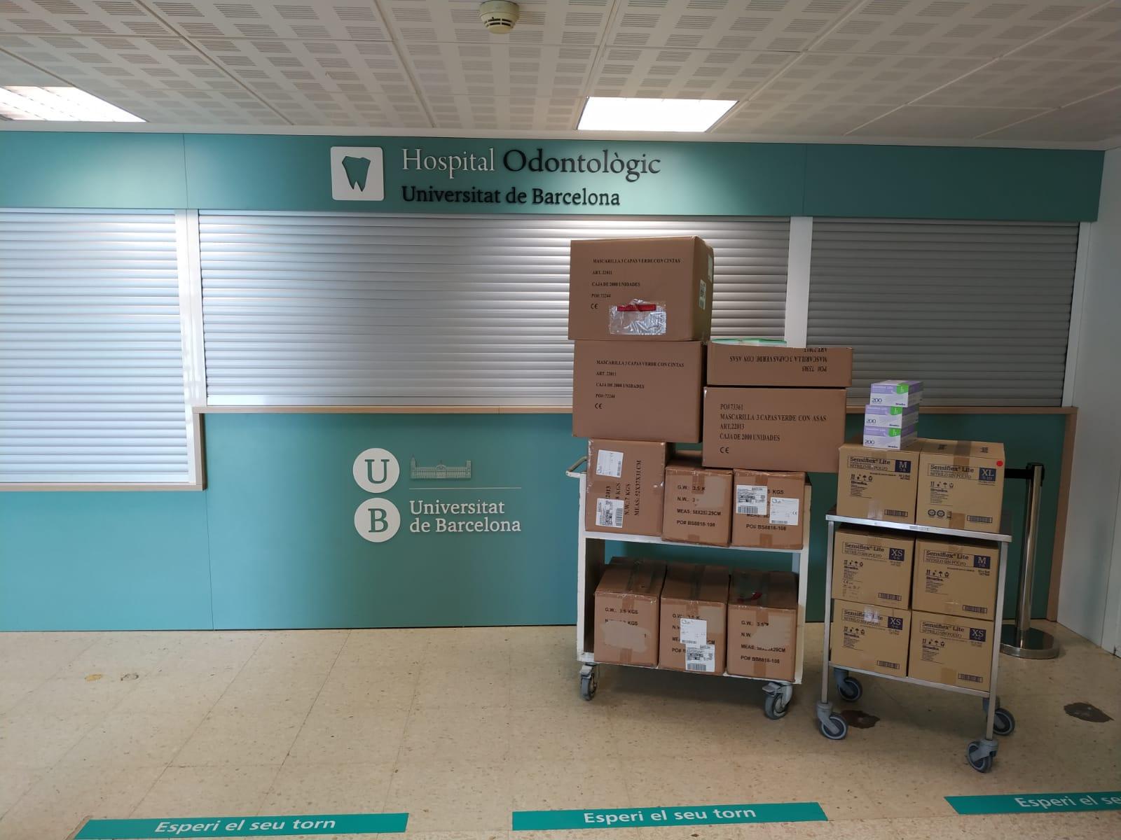 Donación de material sanitario para el Hospital Universitario de Bellvitge