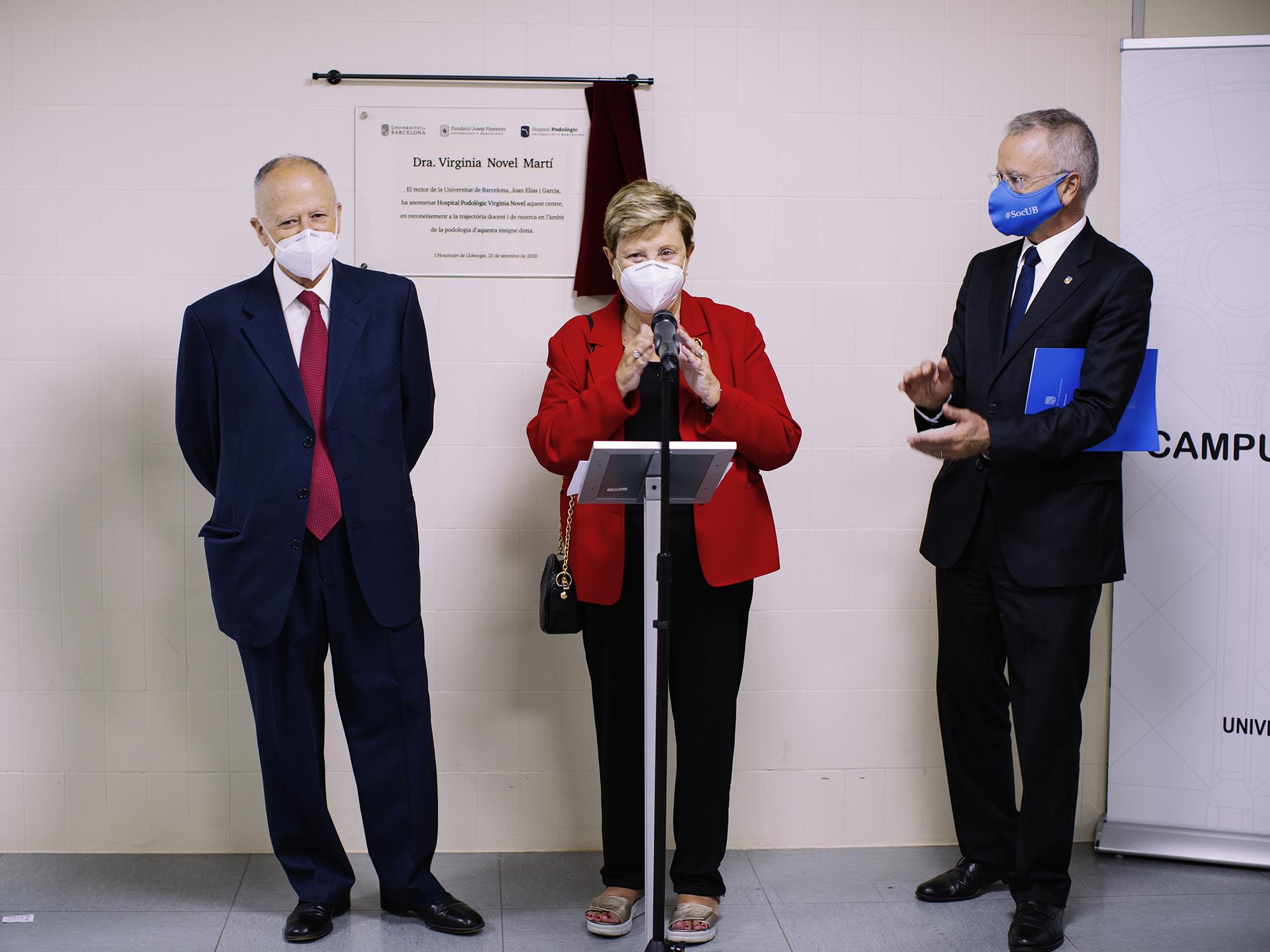 L'Hospital Podològic UB inaugura nou nom; Hospital Podològic Virginia Novel