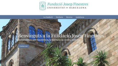 La Fundació Josep Finestres, el Hospital Odontològic UB y el Hospital Podològic UB renuevan sus páginas web.