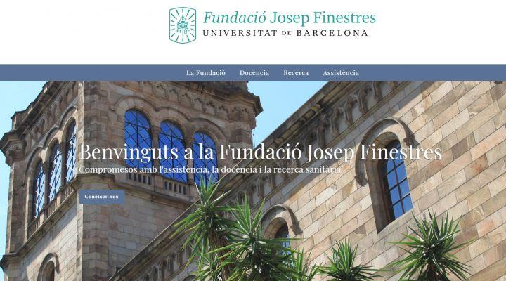 La Fundació Josep Finestres, l'Hospital Odontològic UB i l'Hospital Podològic UB renoven les seves pàgines web.