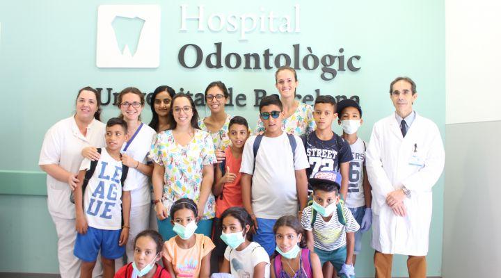 L'Hospital Odontològic Universitat de Barcelona visita als nens saharauis