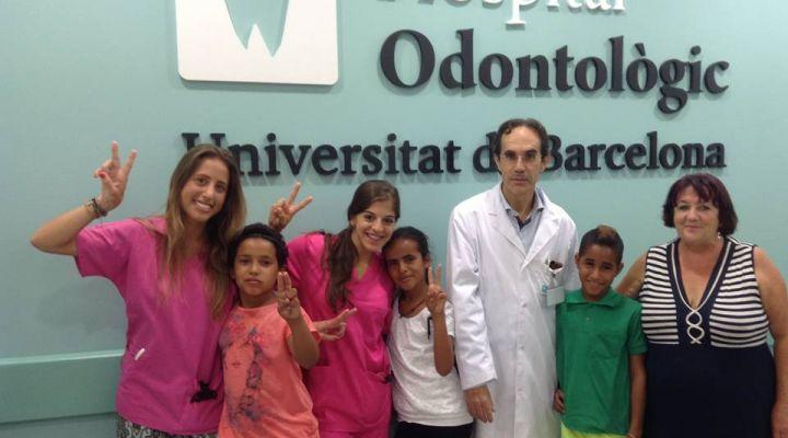 Els nens saharauis a l'Hospital Odontològic Universitat de Barcelona