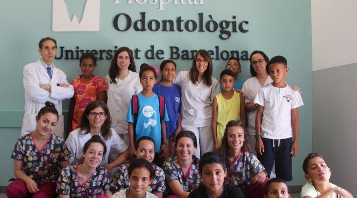 L'Hospital Odontològic Universitat de Barcelona visita un any més  als nens saharauis